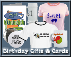 Fun Birthday t-shirts, Gifts & Cards