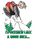 Funny Snowmobiling T-shirts & Gifts