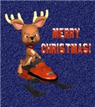 Merry Christmas Snowmobiling Ornaments & Gifts