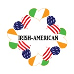 Patriotic Green Irish American St. Patrick's Day T