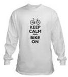 Keep Calm and Bike On (dark gray imprint)
