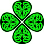 4 Leaf Celtic Shamrock Clover