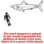 Great White Shark Man