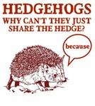 Hedgehogs Share The Hedge