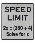 Speed Limit Math