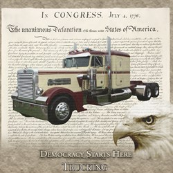 Democracy Starts Here Trucking
