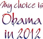 My choice is Obama in 2012