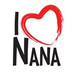 I heart nana, I love nana, I love grandma