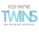 yes we're twins fraternal