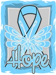 Hope Butterfly Prostate Cancer Ribbon Shirts