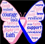 Male Breast Cancer Butterfly Shirts and Gifts