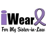 I Wear Violet Ribbon For My Sister-in-Law