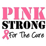 Pink Strong For The Cure Breast Cancer T-Shirts