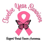 12 Year Breast Cancer Survivor T-Shirts