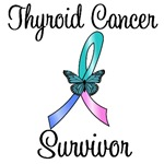 Thyroid Cancer Survivor Butterfly T-Shirts & Gifts