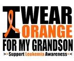 I Wear Orange For My Grandson Leukemia Shirts