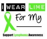 Lymphoma I Wear Lime Green Ribbon T-Shirts & Gifts