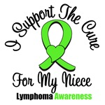I Support The Cure For My Niece Lymphoma Shirts
