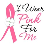 I Wear Pink Flower Breast Cancer Shirts