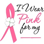 I Wear Pink Flower Breast Cancer Shirts & Gifts