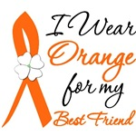 I Wear Orange Flower Best Friend Leukemia Shirts