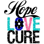 Hope Love Cure Thyroid Cancer Shirts & Gifts