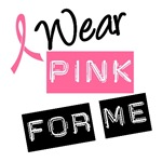 I Wear Pink Ribbon For Me  Label T-Shirts