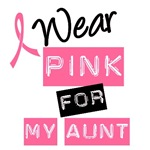 I Wear Pink Ribbon For My Aunt Label T-Shirts