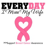 Everyday I Miss My Wife Breast Cancer Shirts