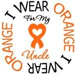 I Wear Orange Ribbon Uncle Leukemia Shirts & Gifts