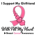Breast Cancer I Support My Girlfriend T-Shirts
