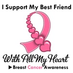 Breast Cancer I Support My Best Friend T-Shirts