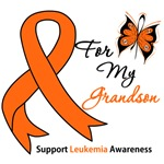 Leukemia Ribbon For My Grandson Shirts & Gifts