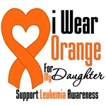 Leukemia I Wear Orange For My Daugher Shirts