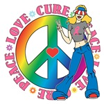 Breast Cancer Peace Love Cure Shirts and Gifts