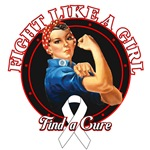 Rosie Riveter Fight Like a Girl Lung Cancer Shirts