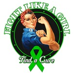 Rosie Riveter Fight Like a Girl Kidney Cancer Tees