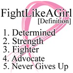 Fight Like a Girl Breast Cancer Definition