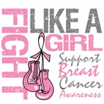 Fight Like a Girl Ribbon Gloves Breast Cancer
