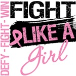 Fight Like a Girl Splatter Grunge Breast Cancer