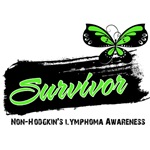 Survivor Non-Hodgkin's Lymphoma Tattoo Butterfly