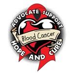 Blood Cancer Heart Ribbon