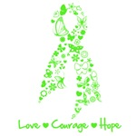 Lymphoma Love Hope Courage Shirts and Gifts