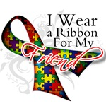 For My Friend - Autism Ribbon Shirts and Gifts
