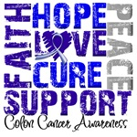 Collage Hope Cure Colon Cancer Shirts and Gifts