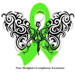 Non-Hodgkin's Lymphoma Tribal Butterfly Shirts