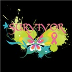 Breast Cancer Butterfly Survivor Shirts