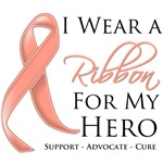 I Wear a Ribbon For My Hero Uterine Cancer Shirts
