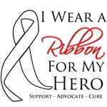 I Wear a Ribbon For My Hero Retinoblastoma Shirts