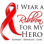 Blood Cancer I Wear a Ribbon For My Hero